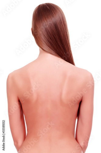 Naked female back