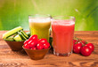 tomato and cucumber fresh juice drink