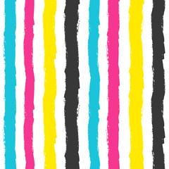 CMYK grunge stripes