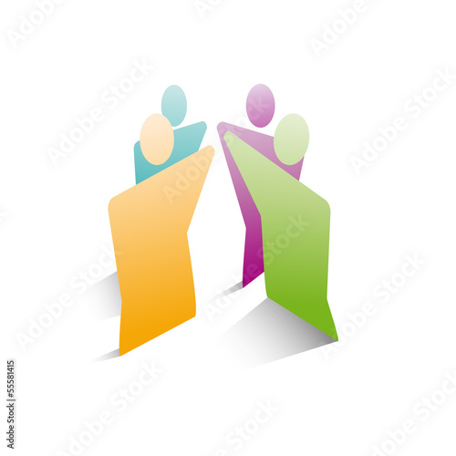 Vector logo teamwork