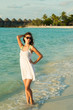 Girl on the beach (Maldives - Lhaviyani Atoll)