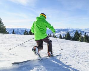 Telemark-Skifahrer
