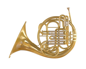 French Horn Isolated
