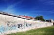 Berlin Wall Memorial with graffiti. Berliner Mauer
