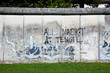 Berlin Wall Memorial with graffiti front view