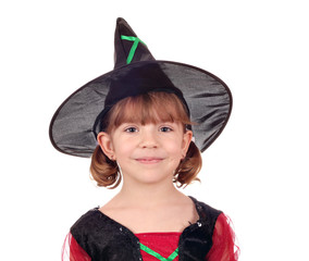 beautiful little girl witch halloween
