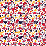 seamless autumnal leaves pattern