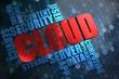 Cloud. Wordcloud Concept.