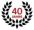Lorbeerkranz 40 Jahre