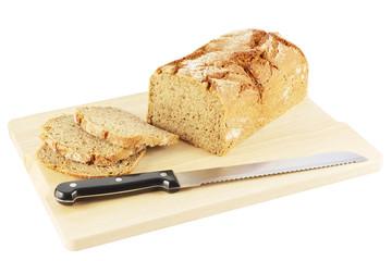 Brot mit Brotmesser