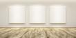 Leinwandbild Motiv blank pictures in the gallery