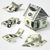 Dollar objects. Vector design element  set.