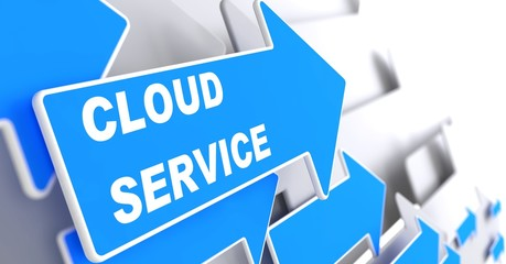 Cloud Service. Internet Concept.