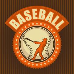 Retro baseball badge.