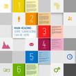 Vector squares background design illustration / steps template