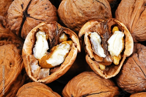 Walnuts in shells © Arena Photo UK