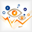 Abstract eye modern vector concept