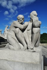 Sculptures in Vigeland Park in Oslo, Norway