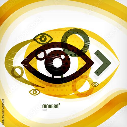 Abstract eye modern vector concept