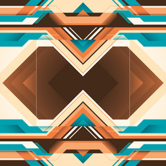 Colorful futuristic abstraction with geometric shapes.