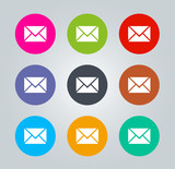 Message - Metro clear circular Icons