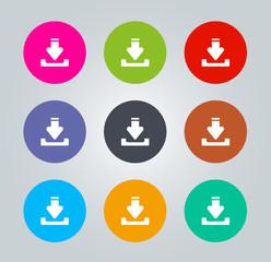Inbox - Metro clear circular Icons