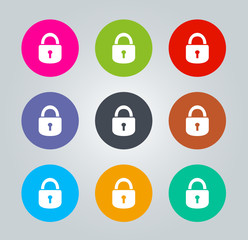 Lock - Metro clear circular Icons