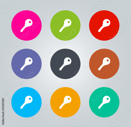 Key - Metro clear circular Icons
