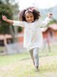 Happy girl having fun
