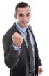 Jung erfolgreich dynamischer Geschäftsmann im Anzug