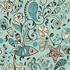 Vector Seamless Highly Detailed Abstract  Pattern