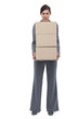 Businesswoman holding cardboard boxes