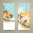 Vector Illustration of Two Summer Banners