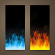 Vector Illustration of Fire Banners