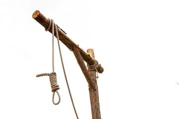 Galgen mit einem gelegten Strang