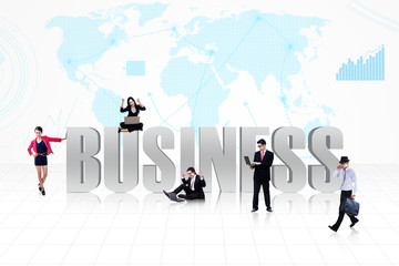 Business global people