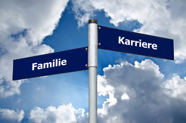 Familie Karriere Schild