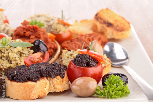 canape with olive tapenade