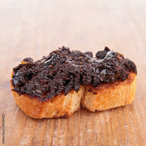 bread with olive tapenade