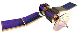 Fototapety 3D model of an artificial satellite of the Earth