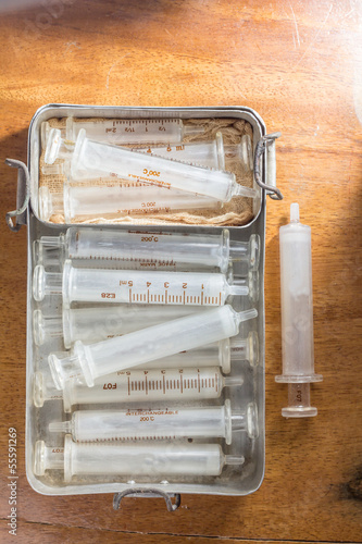 Antique syringes