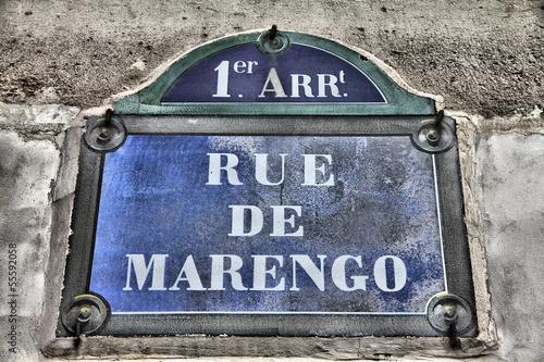 Street sign in Paris