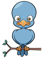 Vector illustration of Cartoon Bird