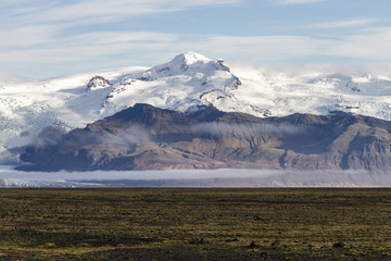 Vatnajokull Glacier, Hvannadalshnukur, South Iceland