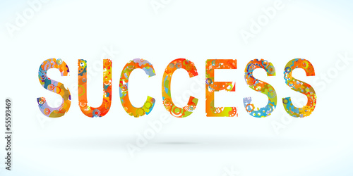 Colored success vector concept illustration