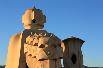 Casa Mila (La Pedrera) in Barcelona, Spain.