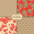 floral patterns set (tiles saved to the patterns palette)