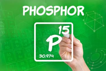Symbol für das chemische Element Phosphor