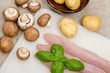 Putenfilet mit Champignons und Kartoffeln