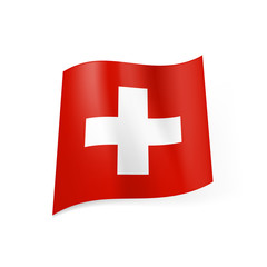 State flag of Switzerland.